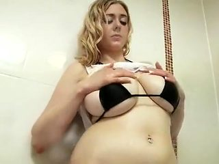Curvy Young Whore Takes A Sensual Shower For The Camera