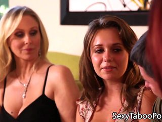 Taboo babe doggystyled while licking pussy
