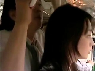 Asian Milf who expose armpit hair was molested by men on bus -HdMilfCam.com