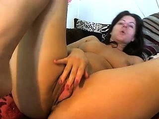 Solo mature seduction video with a busty brunette mom