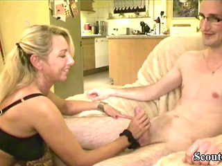 GERMAN BIG TITS MILF JENNY SEDUCE 18yr old YOUNG BOY TO FUCK