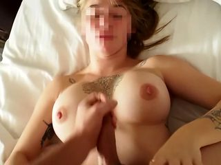 Morning Sex And Cum On Tits with Busty Girlfriend
