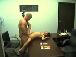 Petite girlfriend visits her man at work