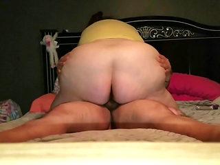 BBW wife riding