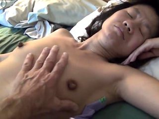 Ugly asian cunt on bed