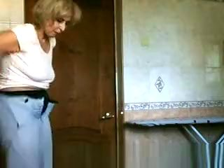 Older woman caught peeing
