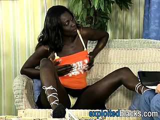Very sexy German ebony gets banged by a horny white