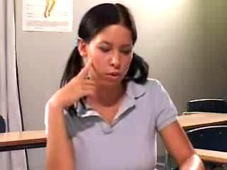 STP7 Horny Schoolgirl Seduces And Fucks Her Teacher !