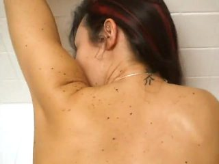 big titted milf milks cock in shower