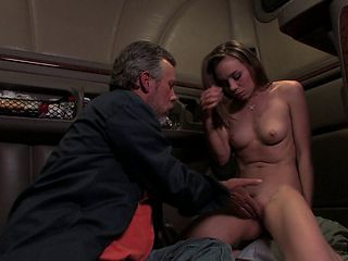 Skinny babe with small tits having her pussy fingered and banged hardcore