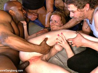 Slutty Redhead In First Gang Bang 18 And Ready To Go - HardcoreGangbang
