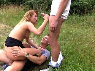 Hottest pornstar Chrissy Fox in crazy college, outdoor xxx clip