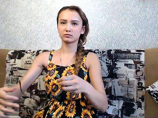 Beautiful brunette woman striptease webcam
