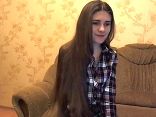 Super sexy long haired striptease and hairplay  long hair