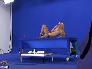 Backstage of sexy adult models posing naked