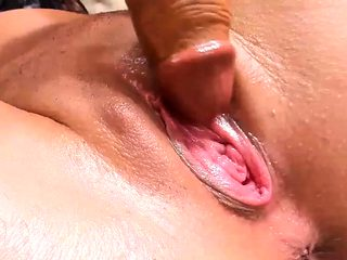 Shaved Busty Hoochie Fucks Her Muff For You