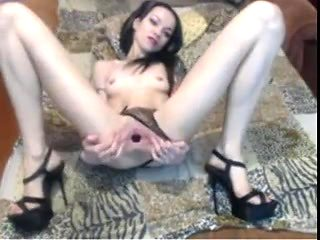 Skinny Hotie With Gaping Pussy