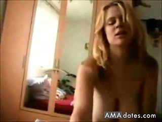 Big boobed blonde babe fucked on homemade