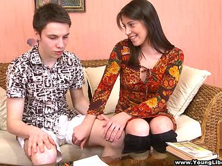 Horny tutor gives her teen patient a practical sex lesson