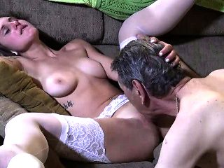 Lingerie pussy lick