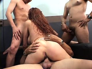 Mature is ganged in brutal way