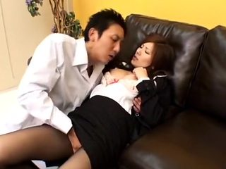 Hottest Japanese slut Yuna Shiina in Best Masturbation, Secretary JAV clip