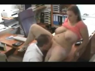 girl with huge tits  get fucked in office