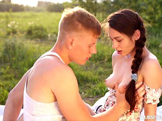 Gorgeous teen Arwen is finally ready to have sex in the wilderness!
