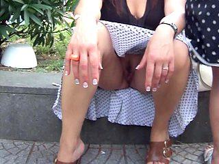 wife99 no panties upskirt outdoor