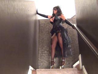 Mistress Samantha Straps It On.