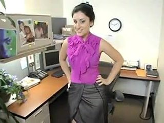 MILF gets off in the office