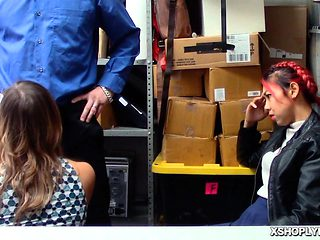 Officer hold and fucked mature pussy in the office