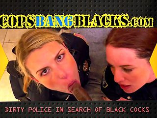 Mature Blonde Cop With Perfect Tits Has Her Pussy Stretched By A Black Stud