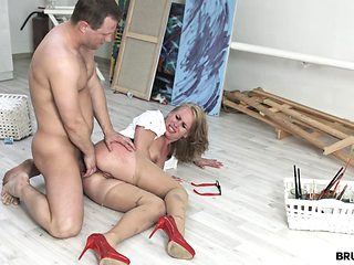 Anita Takes Rough Fuck At Her Office