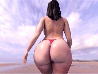 Big Ass on D'Beach!