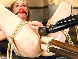 Penny Pax in Penny Pax Gagged And Double Stuffed - HogTied