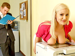 Fired huge boobs Kylie Page secretary fucked by her boss