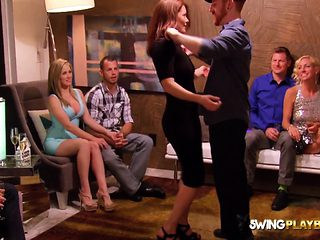 HOT group having sex SWINGER HOUSE after the party
