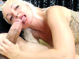 Blowjob Innocent blonde sucks big cock