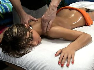 Hot 18 girl acquires fucked hard by her masseur