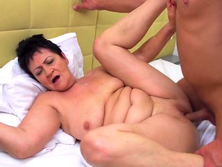 Taboo sex with granny and mature mom