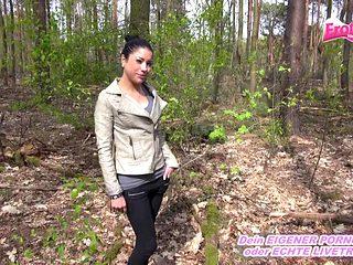 German Latina skinny young teen fuck Outdoor