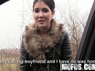 Mofos - Stranded Teens - Czech Honeys Roadside Sex Tape star