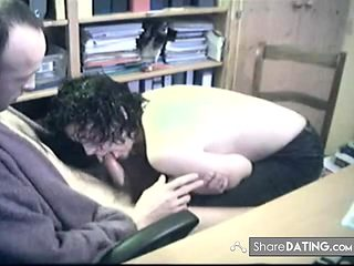 Hidden cam - Blowjob at the office