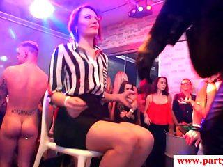 European amateur babes cockriding at sexparty