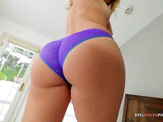 Nice POV panty sex with blonde hottie