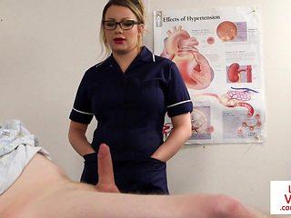 British nurse voyeur instructing sub patient