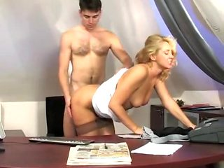 Russian mature fucks with a junior 2