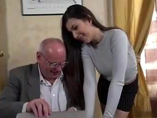 secretary fucks her old boss man