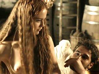 Hera Hilmar Topless in Da Vincis Demons On ScandalPlanet.Com